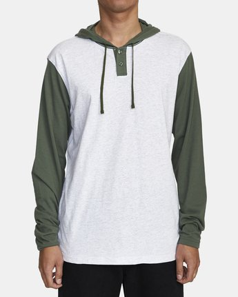 1 PICK UP II HOODIE Green M9593RPU RVCA
