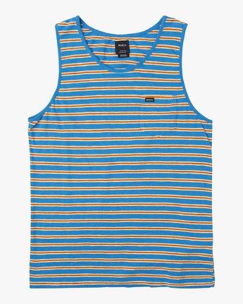 0 Vincent Stripe Knit Tank Top Blue M981URVS RVCA