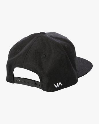 4 RVCA Twill Snapback III Hat Black MAAHWRSB RVCA