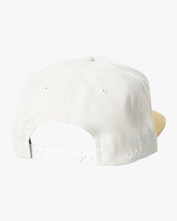 1 RVCA TWILL II SNAPBACK HAT White MAAHWRSB RVCA