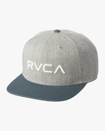 1 RVCA Twill Snapback III Hat Green MAAHWRSB RVCA