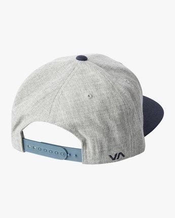 3 RVCA TWILL II SNAPBACK HAT Grey MAAHWRSB RVCA