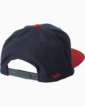 1 RVCA Twill Snapback III Hat Blue MAAHWRSB RVCA