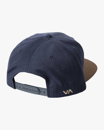 3 RVCA TWILL II SNAPBACK HAT Black MAAHWRSB RVCA