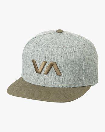 1 VA Snapback II Hat Grey MAAHWVAS RVCA