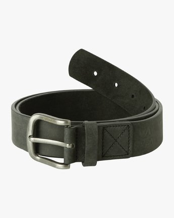 1 Truce Leather Belt Black MABLQRTL RVCA