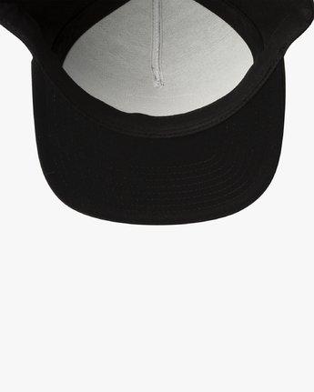 3 ELLIPTIC SNAPBACK HAT Black MAHW3RES RVCA