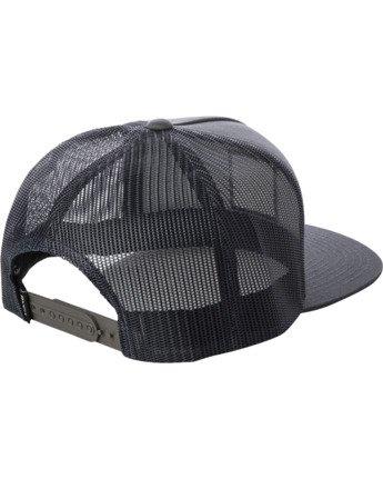 1 VA ATW PRINT TRUCKER HAT Grey MAHW3RVP RVCA