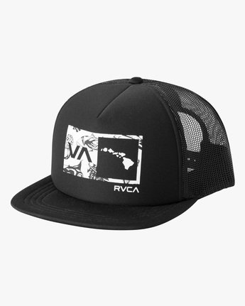 1 Islands Balance Box Foam Trucker Hat Black MAHWMRIB RVCA