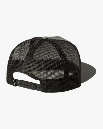 1 Island Patch Trucker Hat Grey MAHWNRIP RVCA