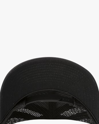 3 VA All The Way Curved Brim Trucker Hat Black MAHWPRVA RVCA