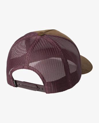 1 VA ATW CURVED BRIM TRUCKER HAT Brown MAHWPRVA RVCA