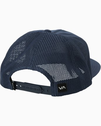 1 VA All The Way Trucker Delux Hat Blue MAHWQRTD RVCA