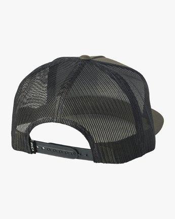 1 VA All The Way Printed Trucker Hat Green MAHWQRTP RVCA