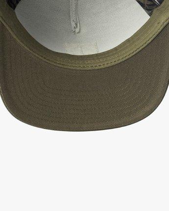 2 VA All The Way Printed Trucker Hat Green MAHWQRTP RVCA