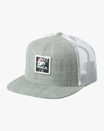 0 VA All The Way Printed Trucker Hat Grey MAHWQRTP RVCA