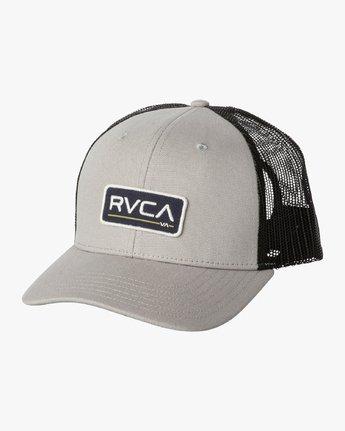 1 Ticket Trucker II Hat Grey MAHWQRTT RVCA