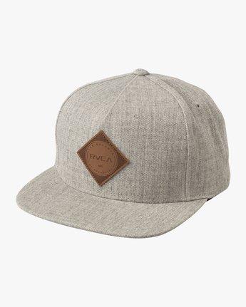 0 Camps Snapback Hat Grey MAHWTRCA RVCA