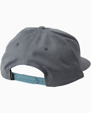 1 Cut Out Snapback Hat Blue MAHWTRCO RVCA