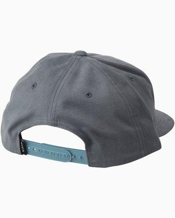 1 Cut Out Snapback Hat  MAHWTRCO RVCA
