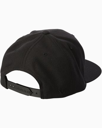 1 Diagram Snapback Hat Black MAHWTRDG RVCA