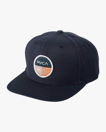 0 Diagram Snapback Hat Blue MAHWTRDG RVCA
