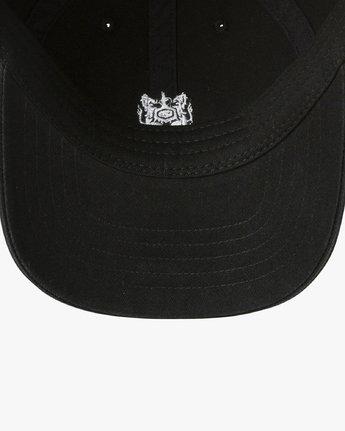 2 Crest Strapback Hat Black MAHWURCC RVCA