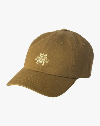 0 Crest Strapback Hat Beige MAHWURCC RVCA