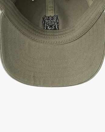 2 Crest Strapback Hat Green MAHWURCC RVCA