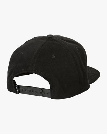 1 Hazard Snapback Hat Black MAHWURHS RVCA
