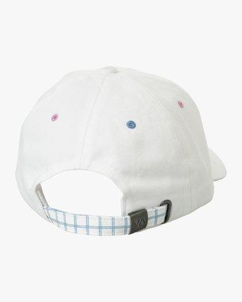 1 Kristen LW Strapback Hat White MAHWURKW RVCA