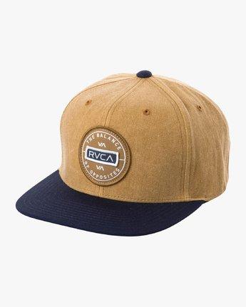 0 Navigate Snapback Hat Brown MAHWURNA RVCA