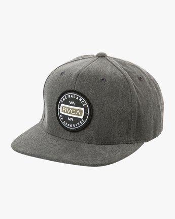 0 Navigate Snapback Hat Black MAHWURNA RVCA