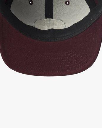 2 Navigate Snapback Hat Red MAHWURNA RVCA