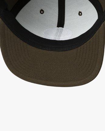 2 Tropics Snapback Hat Brown MAHWURRT RVCA