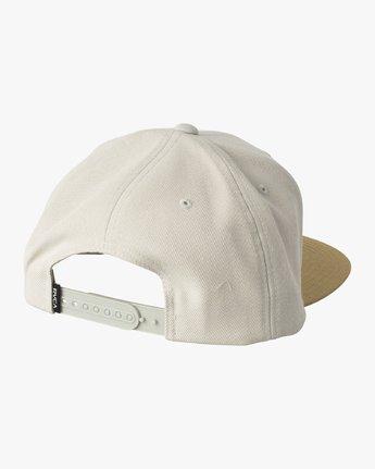 1 Den Snapback Hat Grey MAHWVRDS RVCA