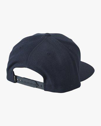 1 Den Snapback Hat Blue MAHWVRDS RVCA