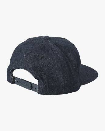 1 Serpent Snapback Hat Blue MAHWVRSS RVCA