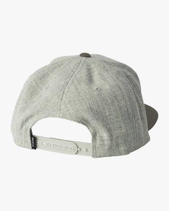 1 VA Patch Snapback Hat Grey MAHWVRVP RVCA