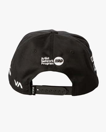 3 World Tour Tokyo Snapback Hat Black MAHWVRWH RVCA