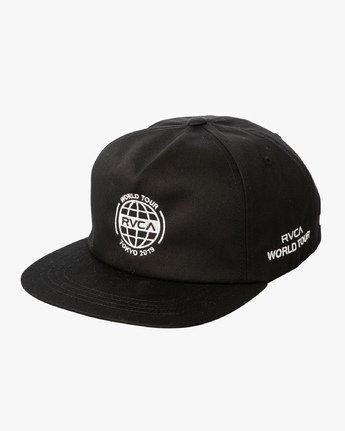 0 World Tour Tokyo Snapback Hat Black MAHWVRWH RVCA