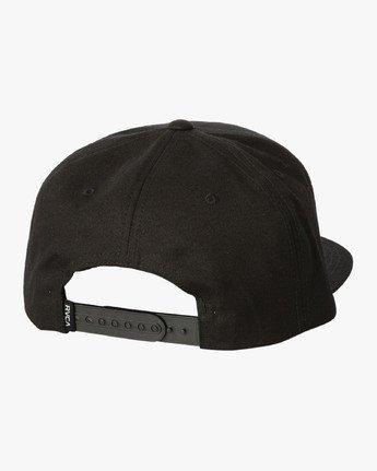 1 Chiba Snapback Hat Black MAHWWRCS RVCA