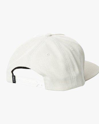 1 VA ALL THE WAY SNAPBACK HAT White MAHWWRVS RVCA