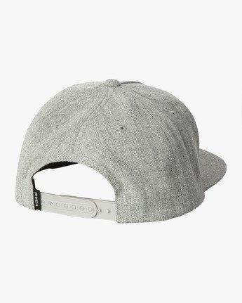 1 VA All The Way Snapback Hat Grey MAHWWRVS RVCA