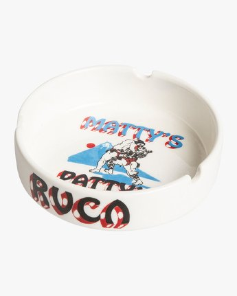 1 Matty's Patty's Tokyo Ceramic Ashtray White MAMCVRMT RVCA