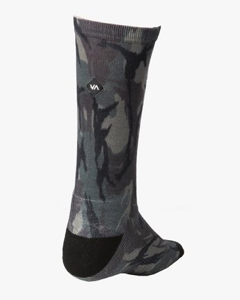 1 RVCA Print Socks Brown MASOQRPS RVCA