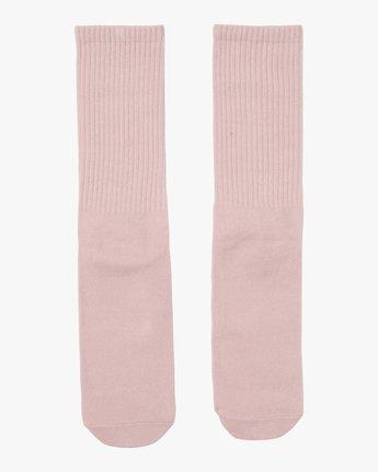 1 RVCA Wash Crew Socks Pink MASOQRWS RVCA
