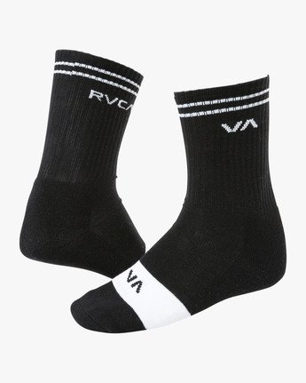 0 Union Skate Crew Socks Black MASOTRUK RVCA