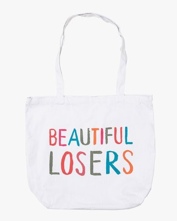 0 Beautiful Losers Tote Bag White MATBQRTO RVCA