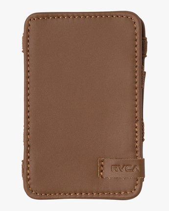 0 LEATHER MAGIC WALLET Beige MAWA2RML RVCA